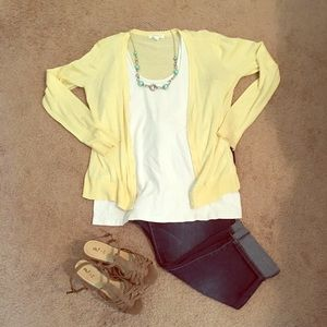 Sunshine yellow cardigan
